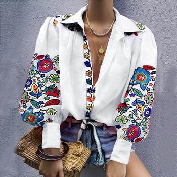Seksowna tunika damska bluzka damska moda z długim rękawem v-kołnierz seksowna koszula z guzikami top na co dzień chemisier femme #4 tanie i dobre opinie Poliester REGULAR Stałe Kobiety Pełna 0902 V-neck Przycisk Suknem