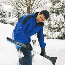 3 w 1 zdejmowany skrobak do śniegu szyba okienna Remover łopata czyszczenie samochodu narzędzie do dekoracji zewnętrznych części samochodowych tanie tanio alloet CN (pochodzenie) Z tworzywa sztucznego Snow Shovel Łopata do śniegu Detachable ABS aluminum alloy PP (brush) PE