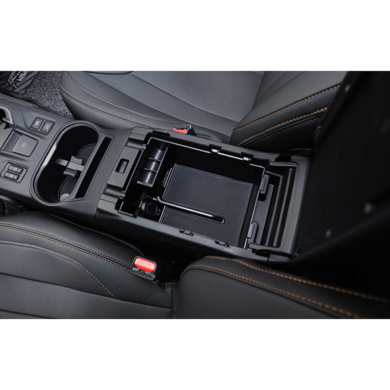 ABS Inner Armrest Console Central Storage Box Cover Trim Fit For Subaru XV 2018