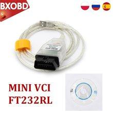Mini vci ft232rl v14.30.023 ft232rl tis techstream obd2 mini vci l-exus mini-varredor obd2 diagnóstico vci para t-oyota