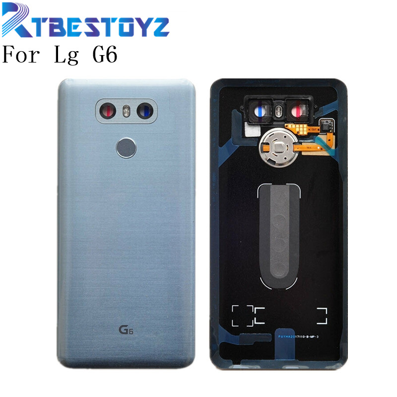 Original Fingerprint Housing Back Glass +Camera Lens Glass Touch ID+ Sticker For LG G6 LS993 US997 VS998 H870 H871 H872 H873