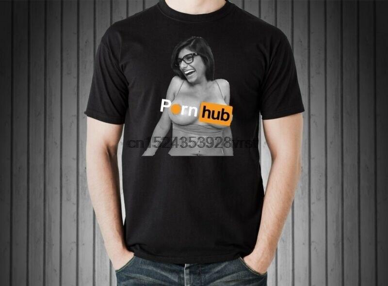 Mia Khalifa Candid Black T Shirts Short Sleeve Parody Shirts Custom From