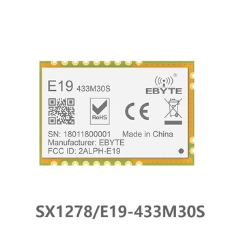 E19-433M30S Lora Long Range SPI SX1278 433MHz 1W Stamp Hole Antenna IoT uhf Wireless Transceiver Transmitter Receiver Module e19 433m20s2 sx1278 lora 433mhz smd spi long range communicator radio 100mw stamp hole wireless transceiver module lora 433