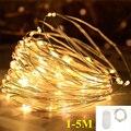 Светодиодный светильник, медная проволока, гирлянда, сказочный светильник, теплый белый, для дома, Рождества, свадьбы, вечеринки, украшения, ...