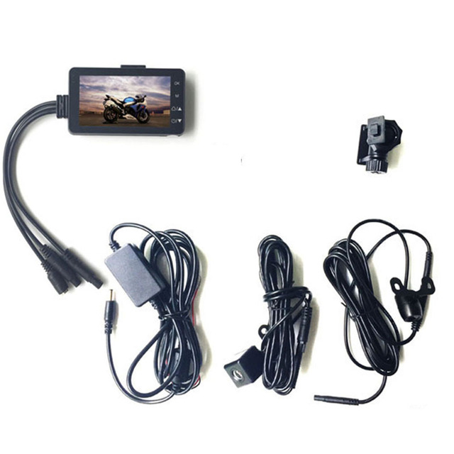 KDsafe HD Motorcycle Dual Camera DVR Motor Dash Cam Waterproof Sport DVR Dual-track Front Rear Moto Driving Recorder Cycle Video 4