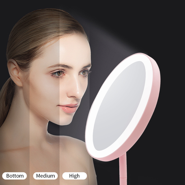 LED Makeup Mirror with led light Vanity Mirror light led mirror miroir зеркало для макияжа spiegel espejo de maquillaje CFTDIS 3