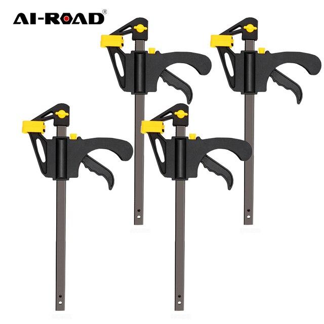 AI-ROAD 2/3/4/5/8Pcs New Woodworking Clamp Bar F Clip 4 Inch Quick Ratchet Wood Working DIY Carpenter Hand Tools 1