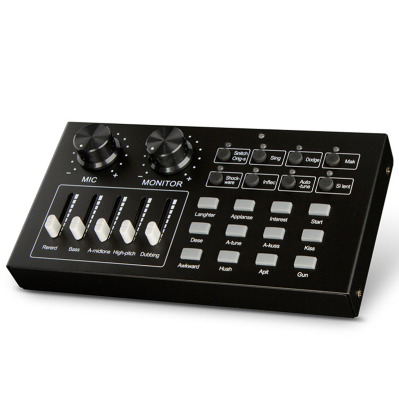 Etap sprzęt audio efekty specjalne komórkowego telefonu, komputera zewnętrzna karta dźwiękowa na żywo piosenki K koncert zmiana głosu procesor dźwięku