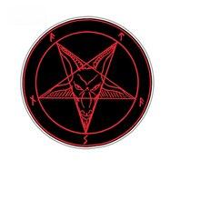 루시퍼의 사탄 악마 악마 악마 지옥 범퍼 비닐 데칼 자동차 스티커 방수 자동차 액세서리 바디 JDM Pvc13X13cm