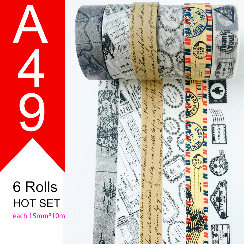 Free Shipping And Coupon Washi Tape,Washi Tape,watercolor,Sale Price,on Sale,26 Style Sets HOT Selling Set A39-A61