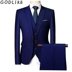 Trajes de boda para hombres trajes de novio informales de negocios ajustados para hombres traje Formal Borgoña verde púrpura amarillo rojo blanco para hombre 5XL 6XL