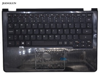JIANGLUN reemplazo de cubierta superior con reposamanos con teclado diseño Reino Unido para Lenovo Yoga 300-11ibr