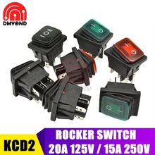 10PCS Rocker Switch 15A 250V On-Off/On-Off-on Position With LED Light Power Boat Switch Push Button for Car 4 6 Pin 4PIN 6PIN 10 pieces 6 pin toggle dpdt on off on momentary switch 15a 250v