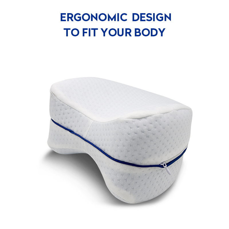 Pregnancy Body Memory Foam Pillow Orthopedic Knee Leg Wedge Pillow Cushion for Side Sleeper Sciatica Relief