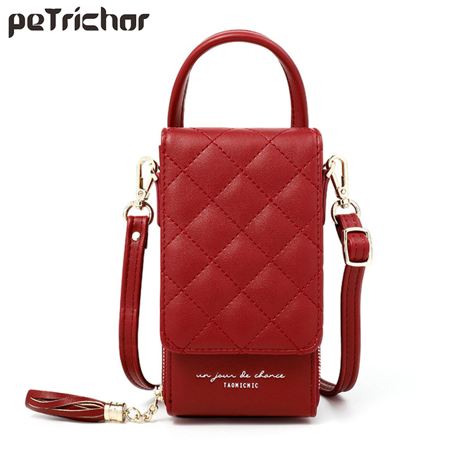 Luxury Cell Phone Pocket Mini Crossbody Shoulder Bags For Women Leather Purse Ladies Small Handbags Tote Female Messenger Bag