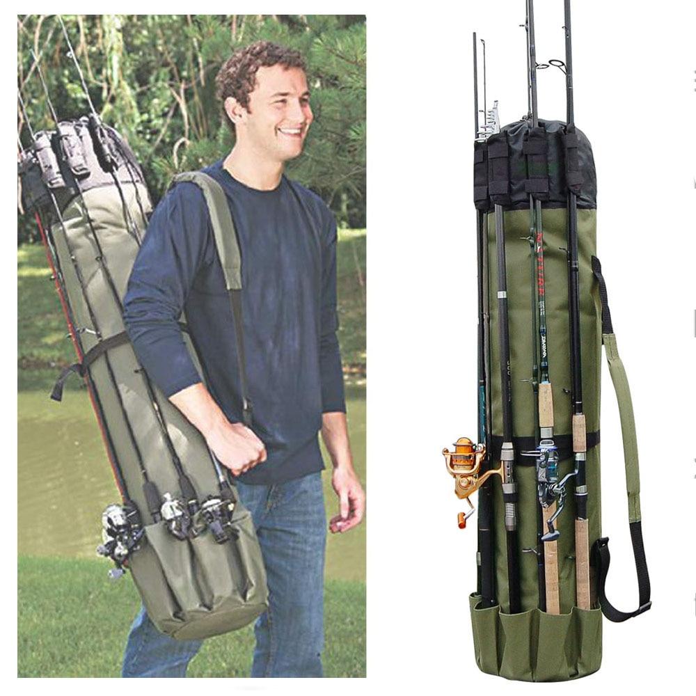Shaddock Fishing Portable Multifunction Nylon Fishing Bags Fishing Rod Bag Case Fishing Tackle Tools Storage Bag-0
