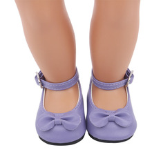 2021 Purple Cute Slippers New Born Baby Doll Shoes for 18