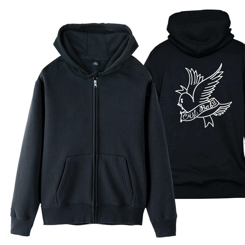 Lil Peep Cry Baby Man Boy Coat Full Zip Hoodie Fleece Hooded Jacket Autumn Winter Couple Clothes ZIIART
