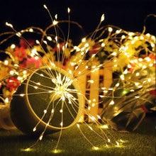 Solar Energy Firework String Light Dandelion Lights Multicolor Landscape Lamp Festival Wedding Decor Christmas Party