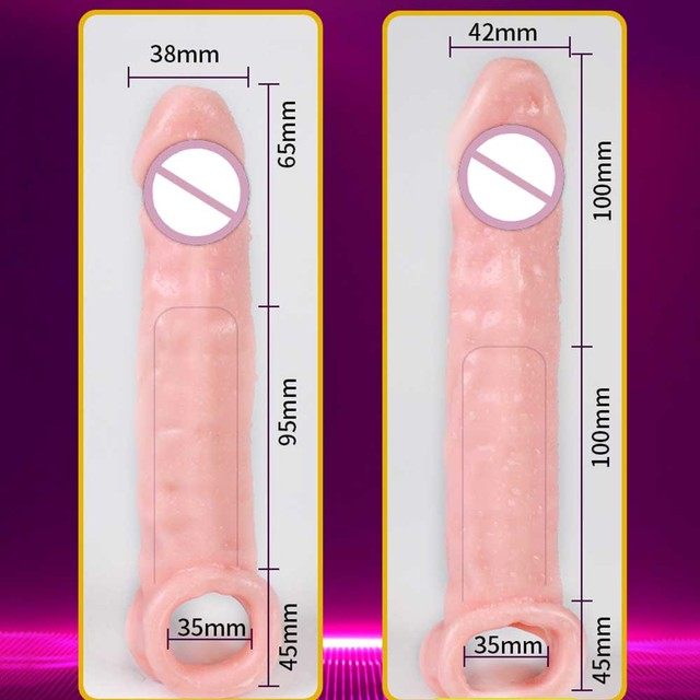 Reusable Condoms Penis Extender Intimate Sex Products Rubber Dick Penis Nozzle Erotic Goods Cock Sleeve Dildo Sex Toys For Men 6