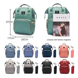 Image 4 - Baby diaper bag mommy stroller bags USB large capacity waterproof nappy bag kits mummy maternity travel backpack nursing handbag