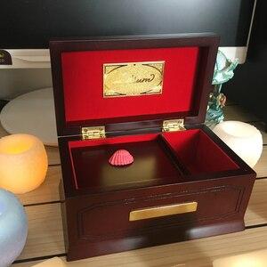 30 тонн Lilium Elfen, оригинальный деревянный музыкальный ящик из твердой древесины, музыкальные коробки для мальчиков и девочек, подарки на день ...