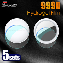 5Sets Front Back Screen Protector For Apple Airtag Locator Tracker Clear Soft TPU Full Cover Protective Hydrogel Film Not Glass