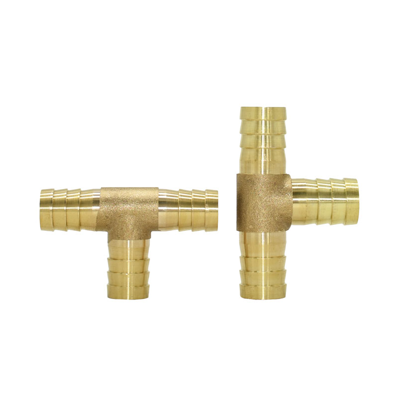 14mm 16mm T-Shape Brass Barb Hose Fitting tee connector 3 Way Hose Tube Barb Copper Barbed Coupling Connector Adapter 1pcs image