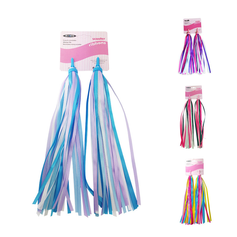 Girls Boys Scooter Handgrip Accessories Streamers Kids Bike Handlebar Streamers Colorful Ribbons Tassel