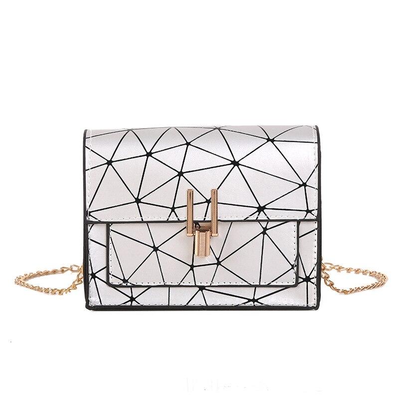 Summer Small Sling Shoulder Bags For Women 2019 Laser Patchwork Female Pu Leather Messenger Bag Ladies Crossbody Handbag Teenage