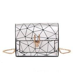 Verão pequeno estilingue sacos de ombro para as mulheres 2019 retalhos laser feminino couro do plutônio saco mensageiro senhoras crossbody bolsa adolescente