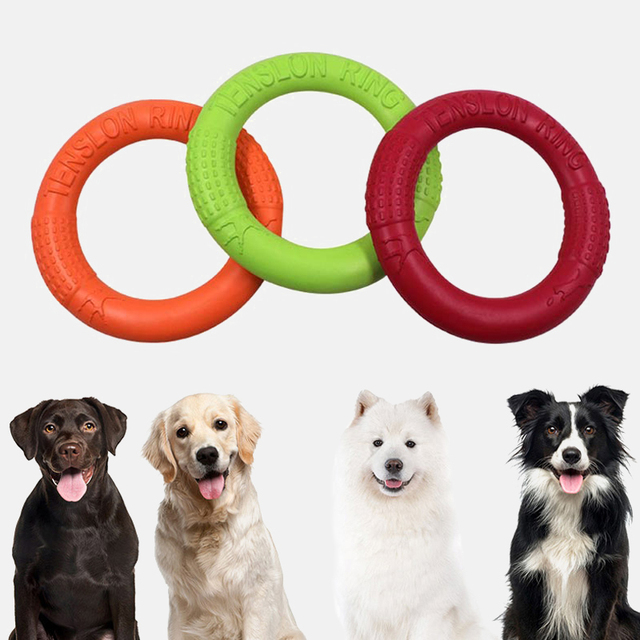Dog Toys Flying Discs Pet Interactive Training Ring Dog Portable Outdoor for Small Large Dog Chew Toys Pet Motion Tools Products 3