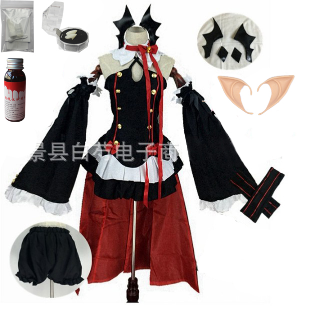 Аниме Серафим конца Owari no Seraph Krul Tepes униформа косплей костюм полный комплект платье наряд - Цвет: package 2