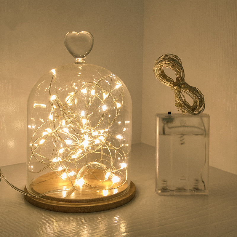 Home Decor Christmas GarlandLed String Fairy Lights Decorative Battery Powered Christmas Decorations for Home New Year Gifts