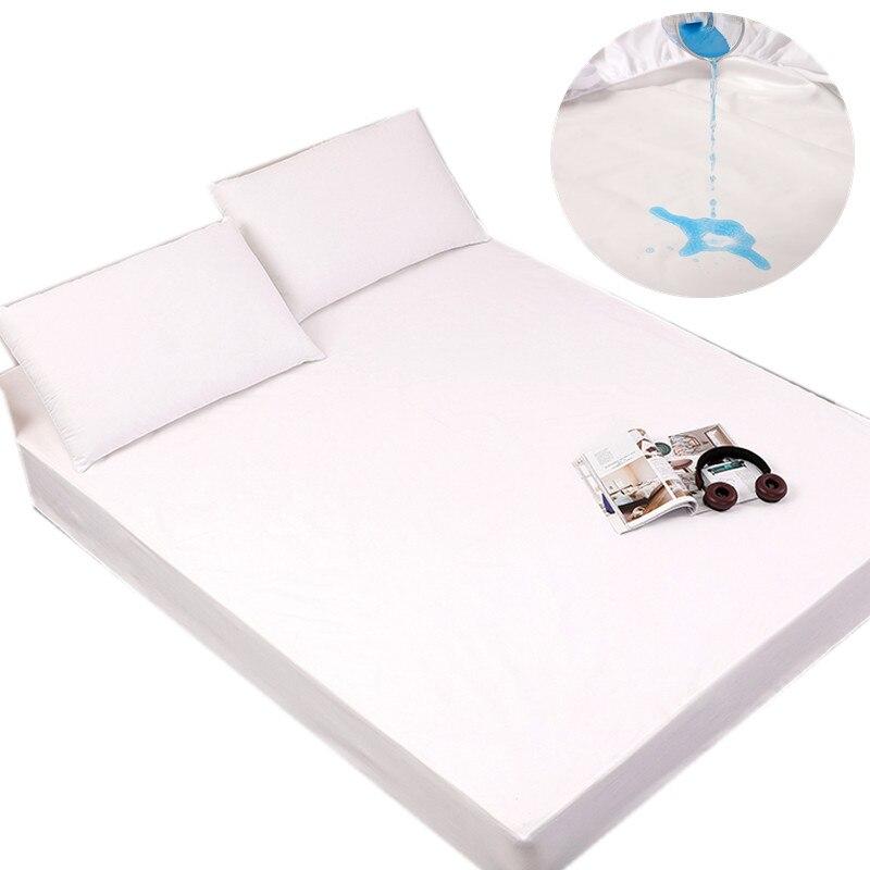 Protector de colchón resistente al agua, funda sólida para cama, almohadilla de protección hipoalergénica transpirable, cubrecamas antiácaros