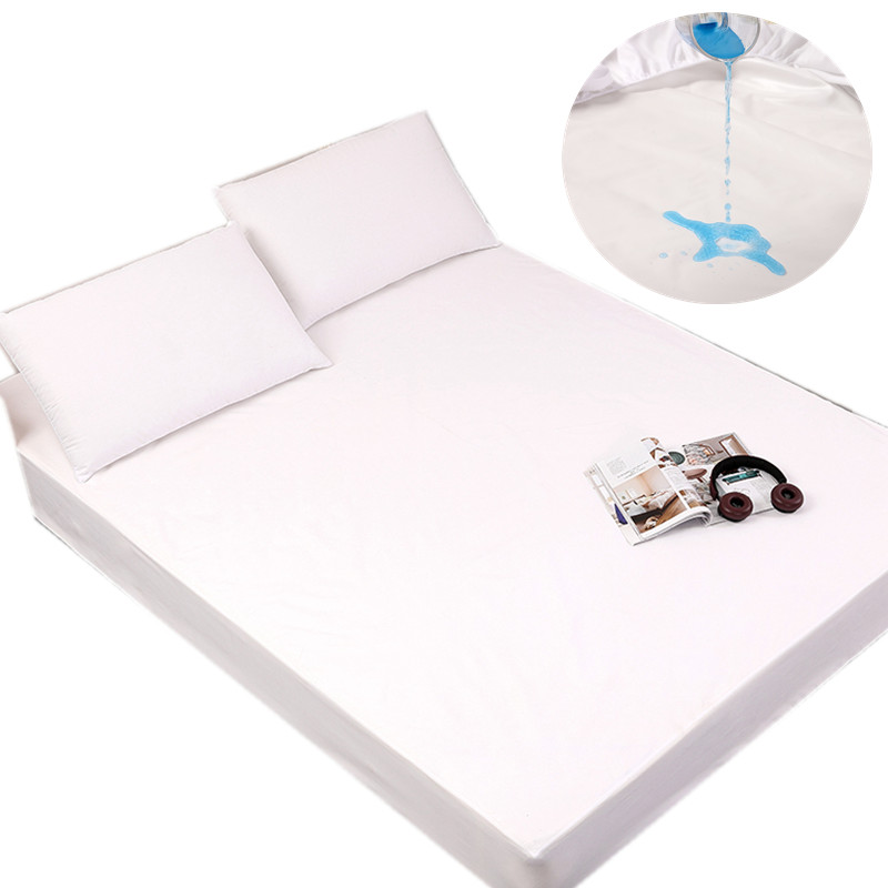 Waterproof Mattress Protector Solid Cover For Bed Breathable Hypoallergenic Protection Pad Cover Anti-mite Bed Linens