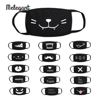 1 Pc Cotton Black Mouth Mask Washable Reusable proof Flu Mouth-muffle
