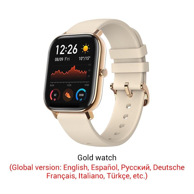 СМАРТ-ЧАСЫ XIAOMI HUAMI AMAZFIT GTS- Выглядит как часы Apple - Цвет: Gold color