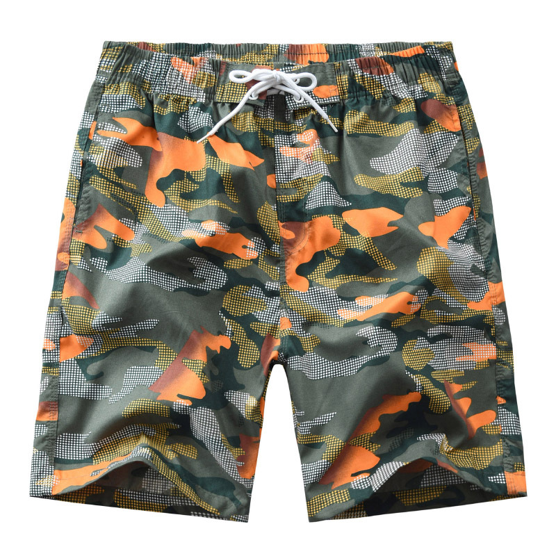 2019 New Products Mixed Colors Beige Printed Beach Shorts Men's Casual Floral Men's Shorts Men's Middle Pants