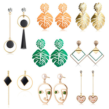 New Korean Heart Statement Drop Earrings 2020 for Women 2