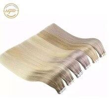 """[新規] ugeatテープ人間の毛延長絹のようなストレートヘア12 24 """"機のremy毛balayageオンブル色2.5グラム/ピース50グラム/20 1080p"""