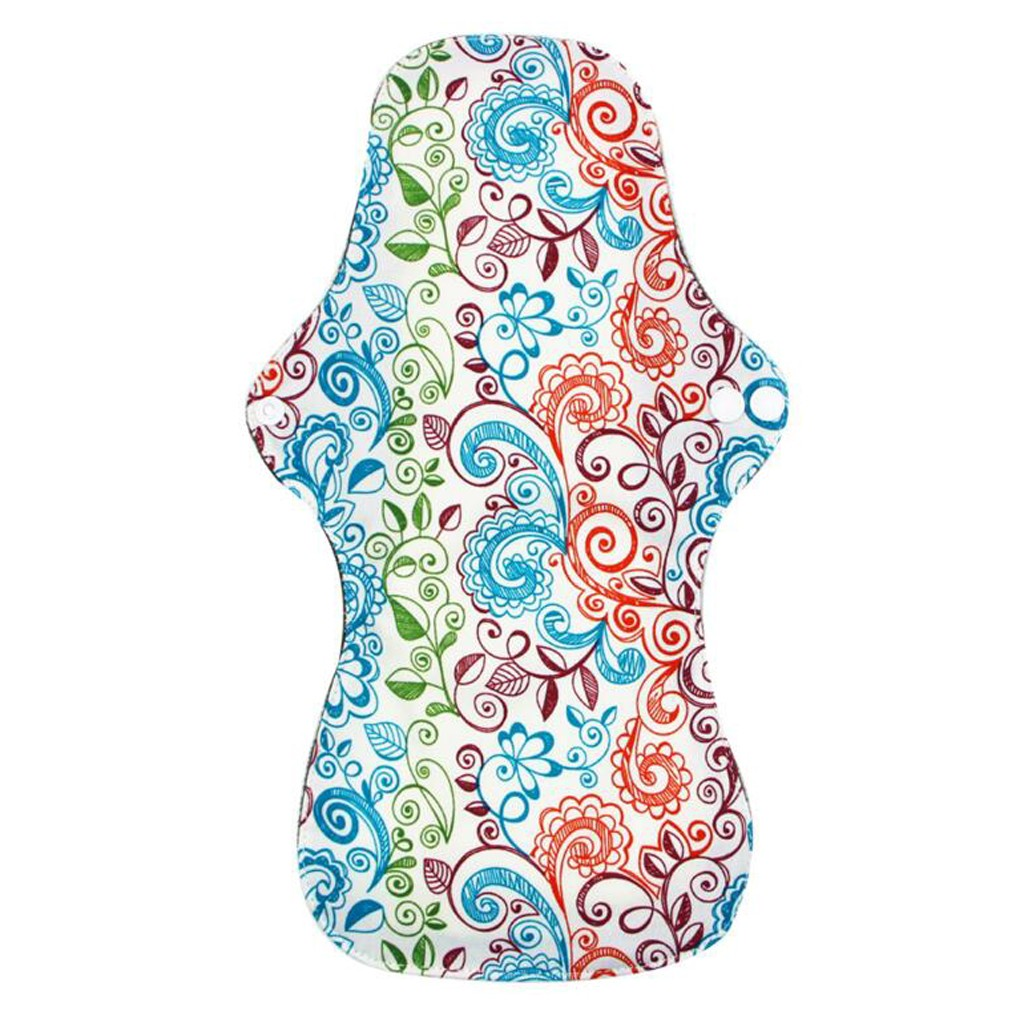Cloth Menstrual Pad Mama Cloth Sanitary Bamboo Charcoal Bag Reusable Washable Feminine Hygiene Panty Liner Towel Pads