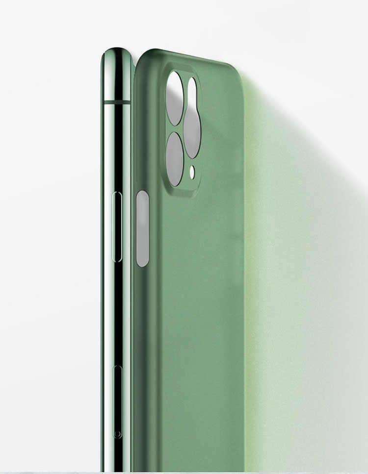 Ultra delgado mate PP transparente teléfono casos para el iPhone 6 6S 7 8 Plus XR X XS X 11 Pro funda protectora máxima de 0,3mm de la bolsa del teléfono