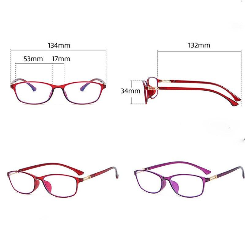 Occhiali da lettura quadrati Anti luce blu ingrandimento occhiali occhiali presbiti occhiali per Computer 1.0 1.5 2.0 2.5 3.0 3.5 4.0 2