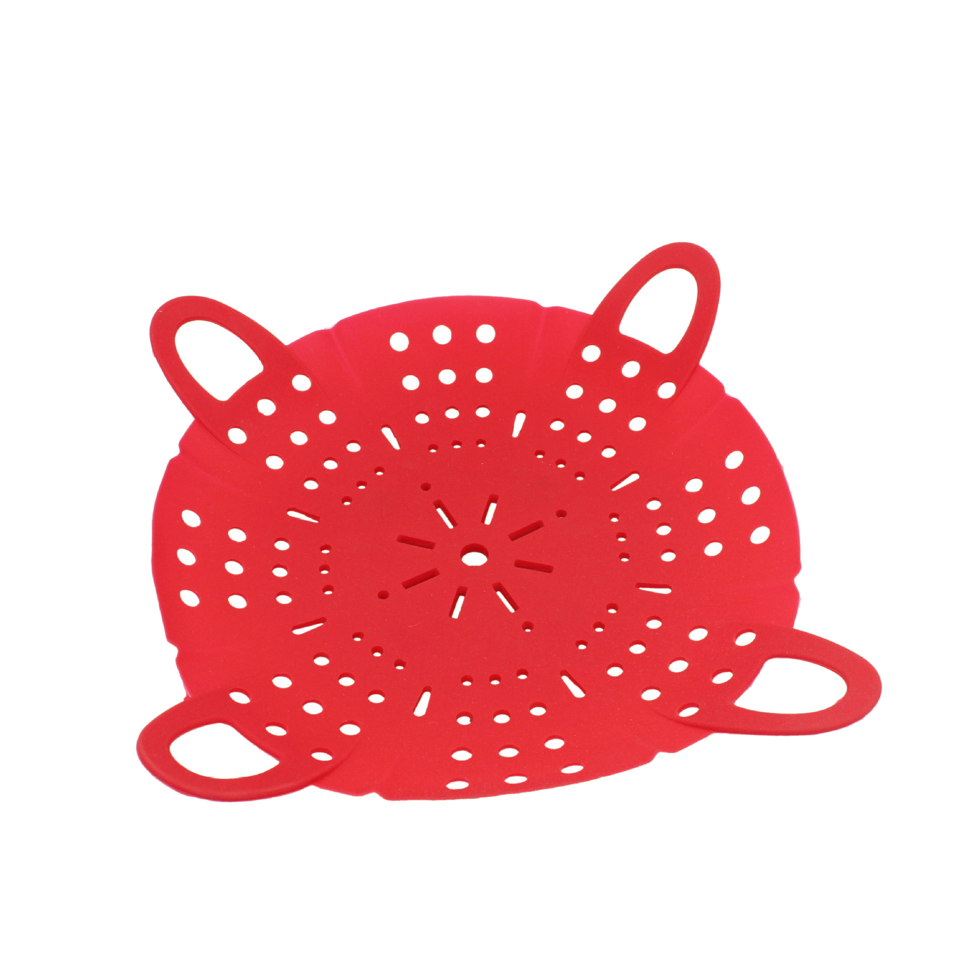 Direct Selling Retractable Folding Bamboo Steamer Steaming Basket Fruit Plate Silica Gel Steaming Plate Small Steaming Rack Stea