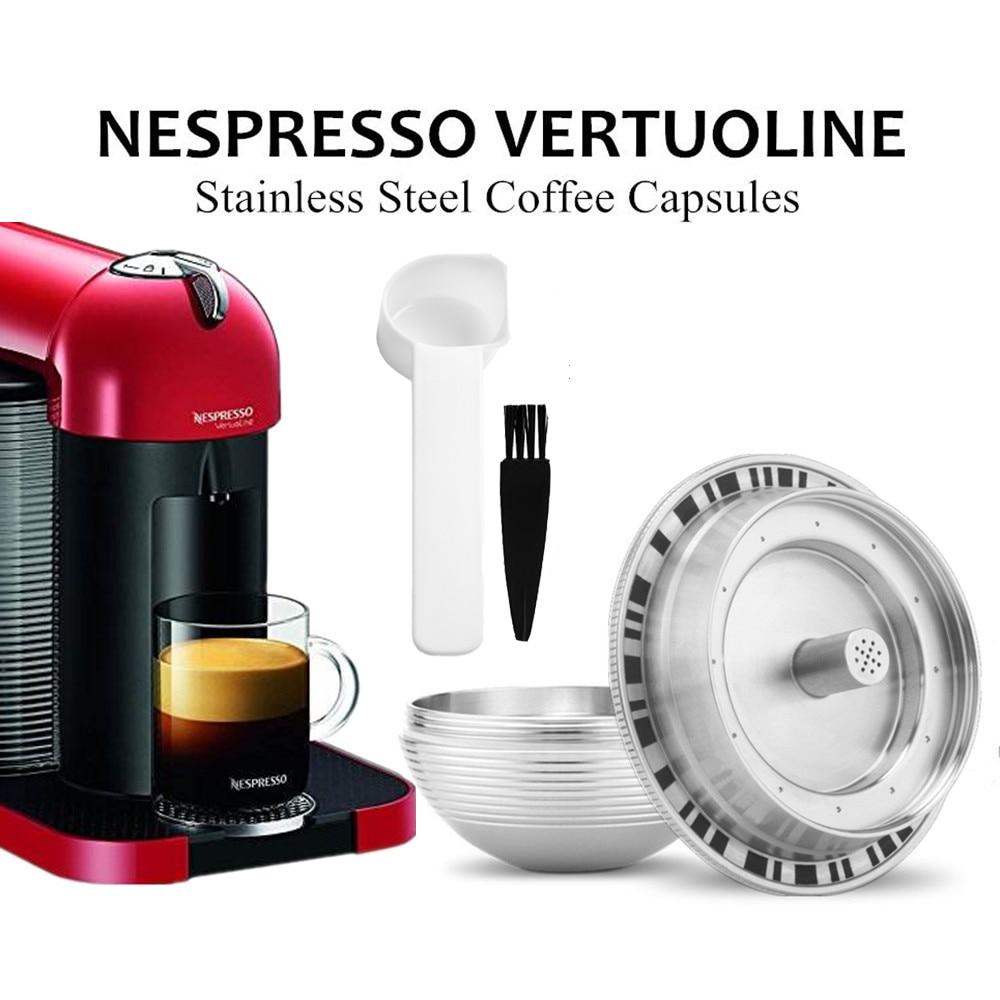 BIG Refillable Coffee Filters For Nespresso Vertuoline GCA1 & Delonghi ENV135 Stainless Steel Coffee Capsule Pod