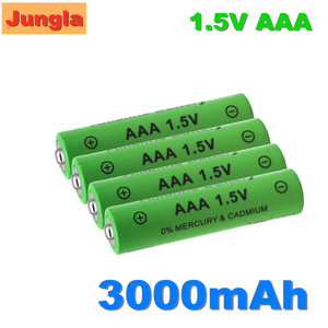 100% AAA Battery 3000mAh 1.5V Alkaline AAA rechargeable battery for Remote Control Toy light Batery