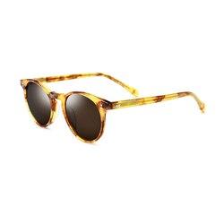 Женские круглые солнцезащитные очки UV400, поляризационные очки с коробкой, 4 цвета, черный/коричневый/красный/синий