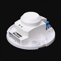 Drop Shipping 220V 800W Microwave Radar Sensor PIR Occupancy Body Motion Detector Light Switch