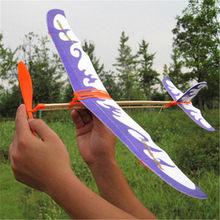1 conjunto de borracha criativa avião avião planador de papel crianças máquina aprendizagem educacional artesanal diy ciência modelo brinquedos
